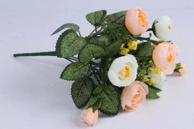 Искусственное растение - Ранункулюс персиковый
