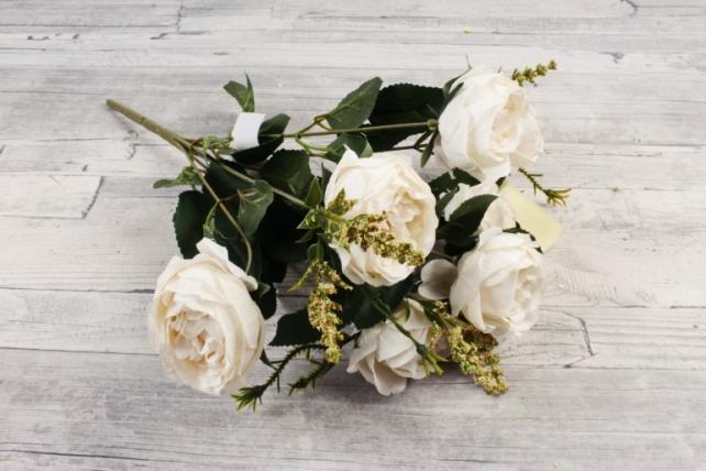 Искусственное растение -  Ранункулюс пионовидный белый