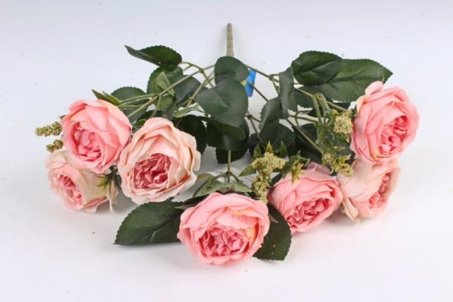 Искусственное растение -  Ранункулюс пионовидный розовый