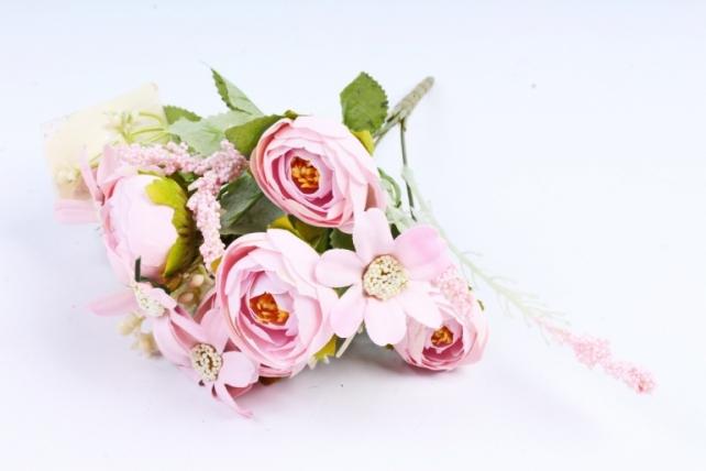 Искусственное растение -  Ранункулюс розовый  (Т)