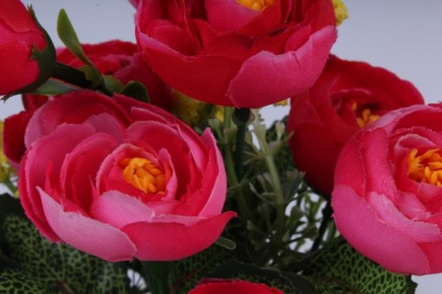 искусственное растение - ранункулюс розовый h=30cm