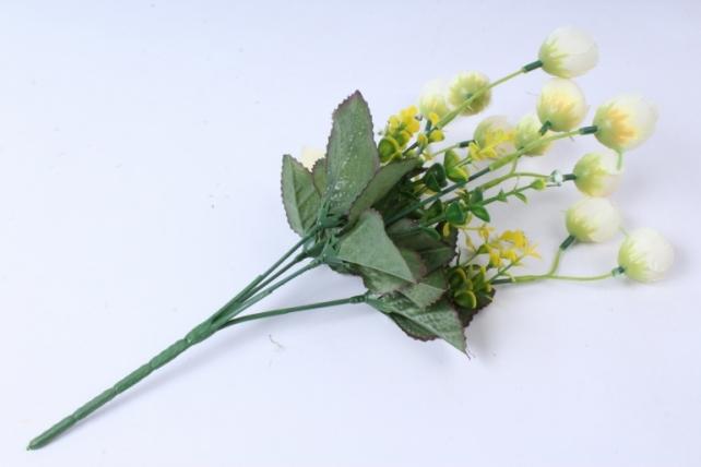 искусственное растение - ранункулюс с бересклетом шампань 30cm