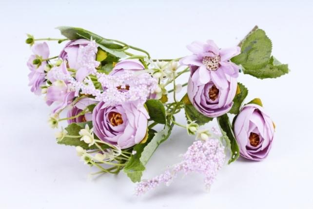 Искусственное растение -  Ранункулюс сиреневый  (Т)