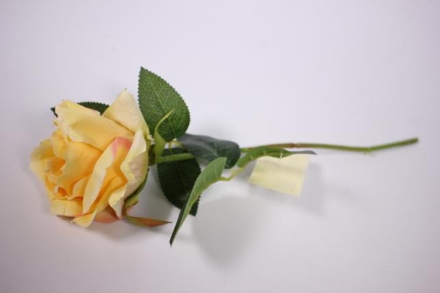 искусственное растение - роза 25см желтая mdm51