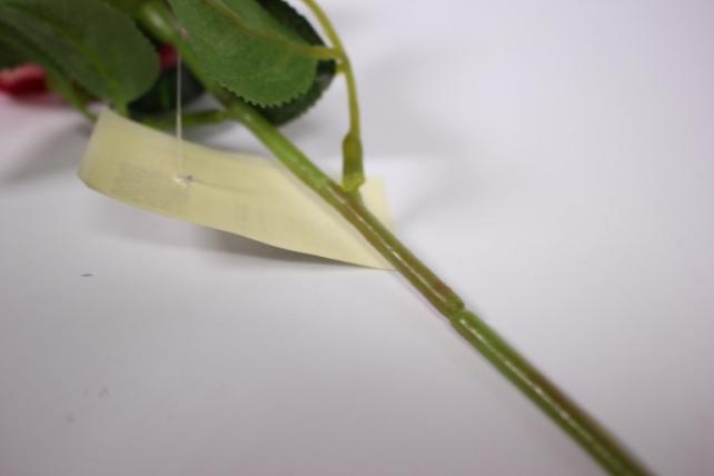 искусственное растение - роза 25см малиновая mdm51