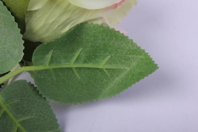искусственное растение - роза 25см персиковая mdm51