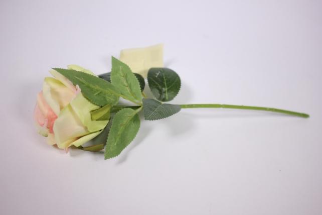 искусственное растение - роза 25см розово-белая mdm51