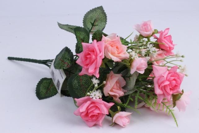 Искусственное растение - Роза кудрявая розовая h=35cm