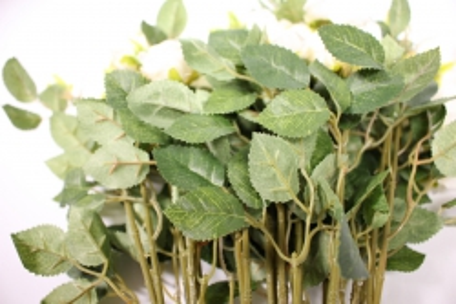 искусственное растение - роза кустовая 35см белая (12 щт в уп) sun415