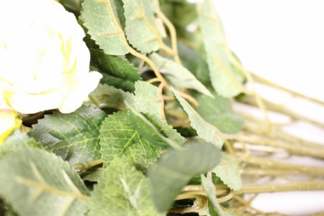 искусственное растение - роза кустовая 35см персиковая (12 щт в уп) sun415