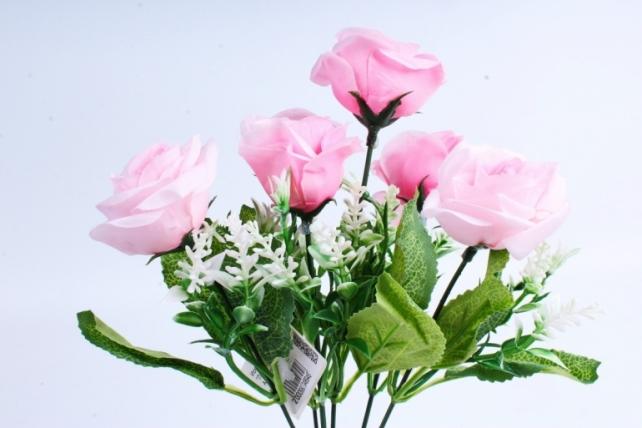 """Искусственное растение -  Роза """"Лапочка"""" розовая  Б10378"""