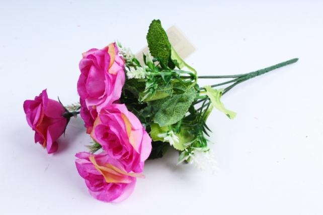 """Искусственное растение -  Роза """"Лапочка"""" сиреневая  Б10378"""