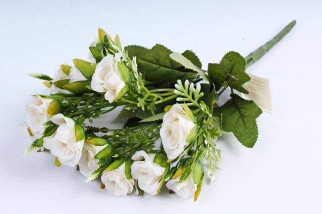 Искусственное растение -  Роза Лукреция 5 веток шампань  Б10410
