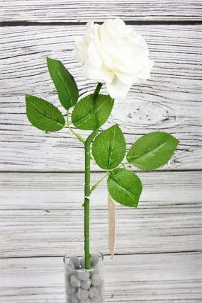 Искусственное растение -  Роза одиночная 50 см белая 20KL769-5