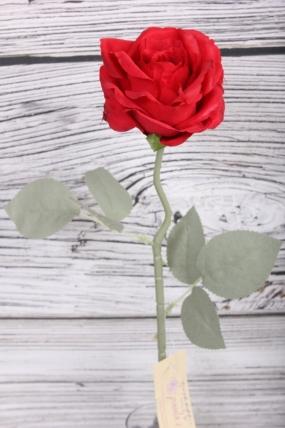 Искусственное растение -  Роза одиночная 50 см красная 20KL764-3