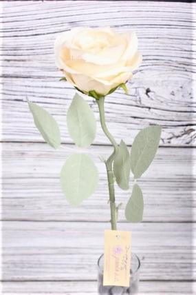 Искусственное растение -  Роза одиночная 50 см кремовая 20KL764-2