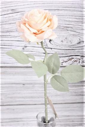 Искусственное растение -  Роза одиночная 50 см персиковая 20KL773-4