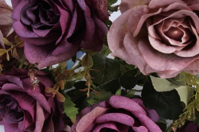 Искусственное растение - Роза Пастель черничная