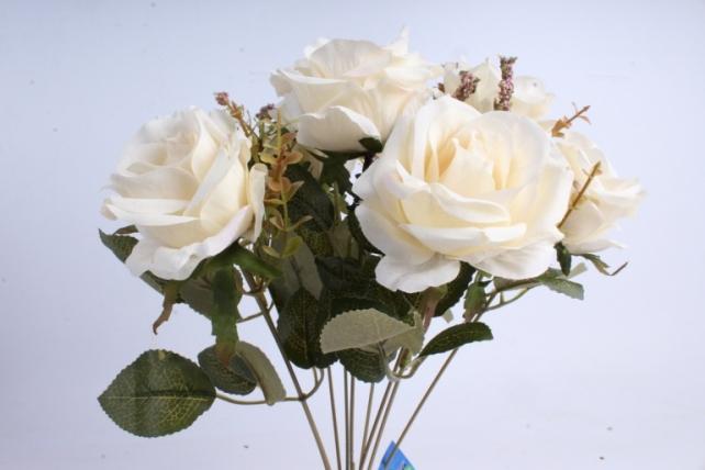 Искусственное растение - Роза Пастель экрю
