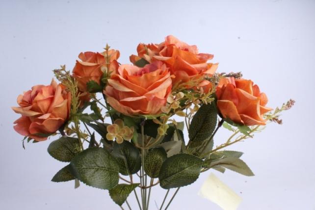 Искусственное растение - Роза Пастель оранжевая
