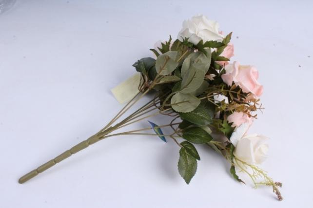 Искусственное растение - Роза Пастель розовая/шампань