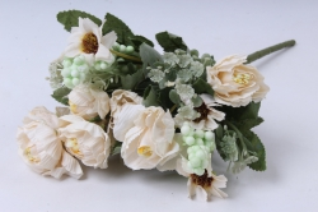 Искусственное растение - Роза Ретро кремовая h=30cm
