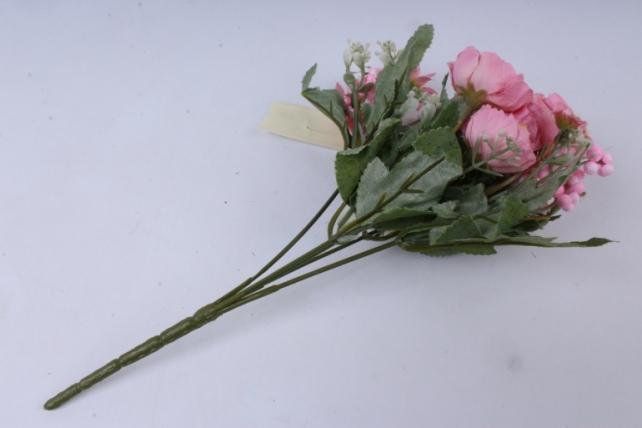 искусственное растение - роза ретро нежно-розовая h=30cm