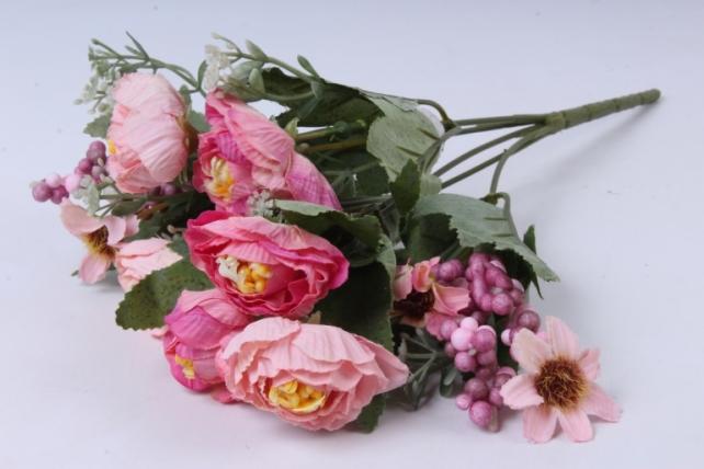 Искусственное растение - Роза Ретро персиковая h=30cm