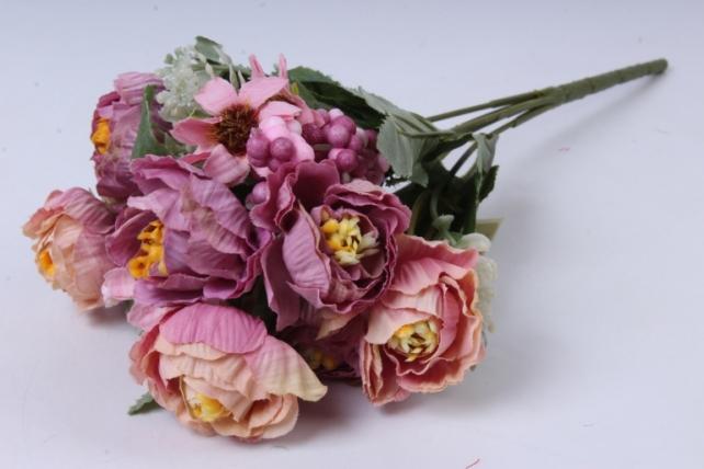 Искусственное растение - Роза Ретро сиреневая h=30cm