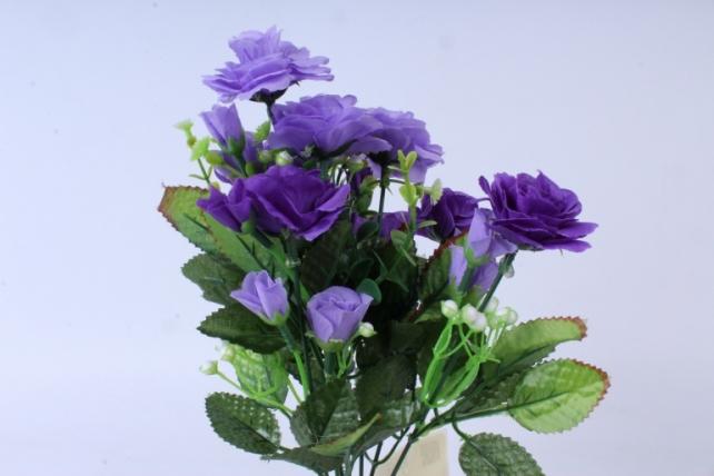 искусственное растение - роза с белыми ягодами фиолетовая  h=33cm