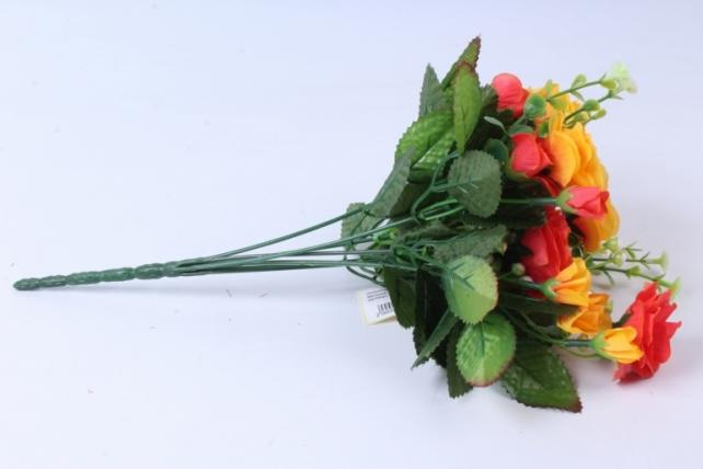 искусственное растение - роза с белыми ягодами желто-красная  h=33cm