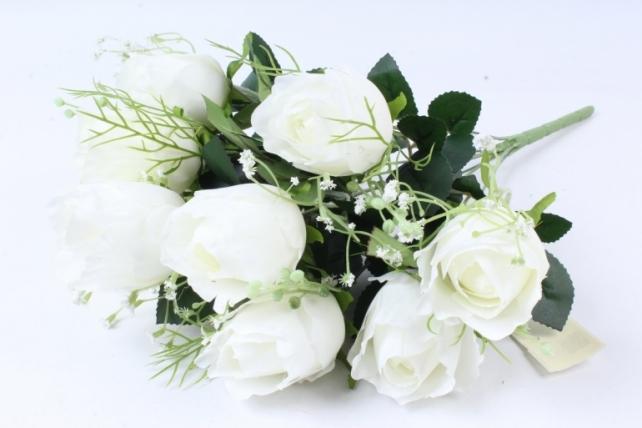 Искусственное растение -  Роза Вена белая Б9719