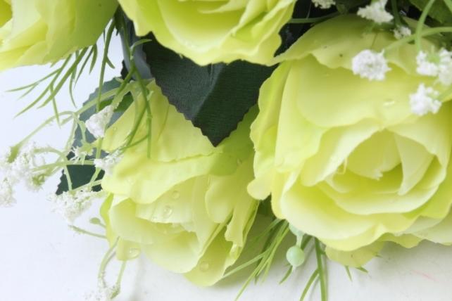 Искусственное растение -  Роза Вена салатовая  Б9719