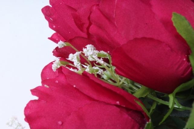 Искусственное растение -  Роза Вена вишнёвая  Б9719