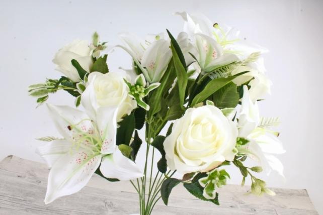 Искусственное растение -  Роза-лилия   белая