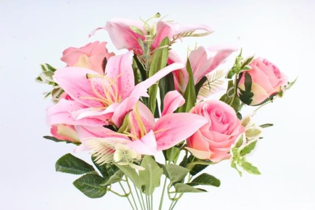Искусственное растение -  Роза-лилия розовая