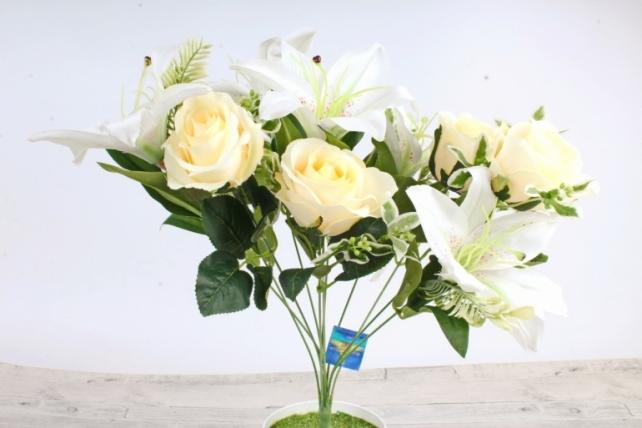 Искусственное растение -  Роза-лилия   шампань