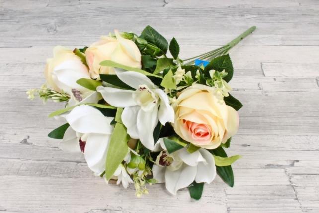 Искусственное растение -  Роза-орхидея   шампань