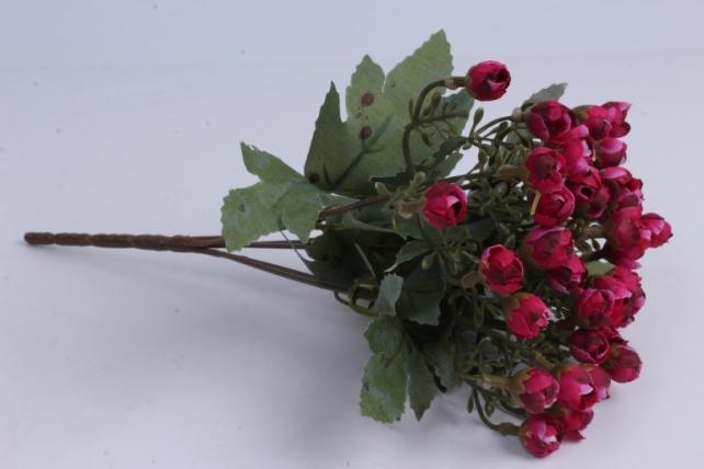Искусственное растение - Розочки мини бордо h=29cm