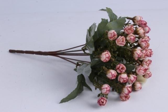 Искусственное растение - Розочки мини персик h=29cm