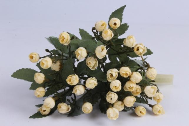 искусственное растение - розочки мини шампань h=29cm