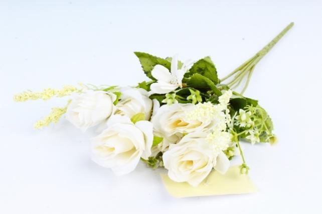 Искусственное растение -  Розочки пастель белые  (Т)