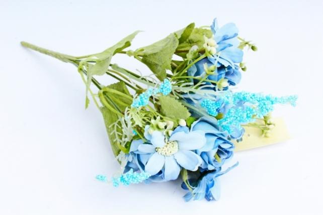 Искусственное растение -  Розочки пастель голубые  (Т)