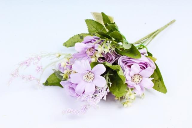 Искусственное растение -  Розочки пастель сиреневые  (Т)