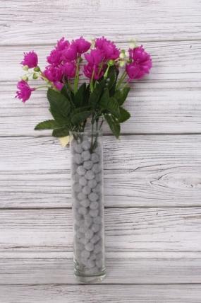 Искусственное растение -  Розочки пластиковые фуксия
