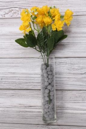 Искусственное растение -  Розочки пластиковые жёлтые