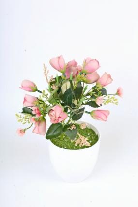 Искусственное растение -  Розочки подмосковные пудровые