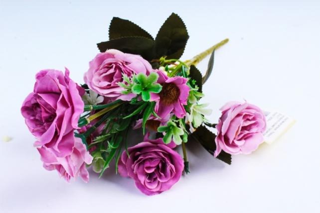 """Искусственное растение -  Розочки с гипсофилой и космеей """"пыльная роза""""  (Т)"""