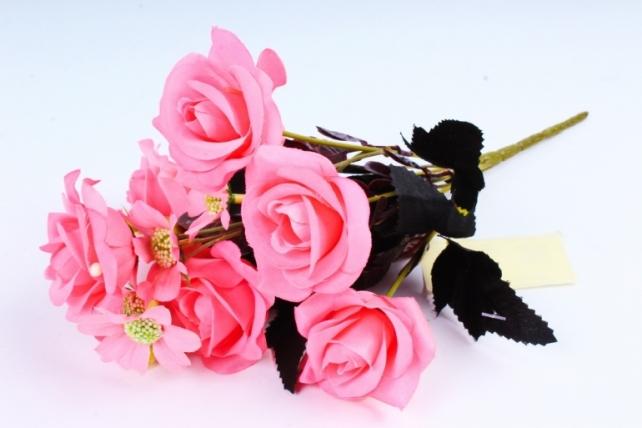 Искусственное растение -  Розочки ярко-розовые  (Т)