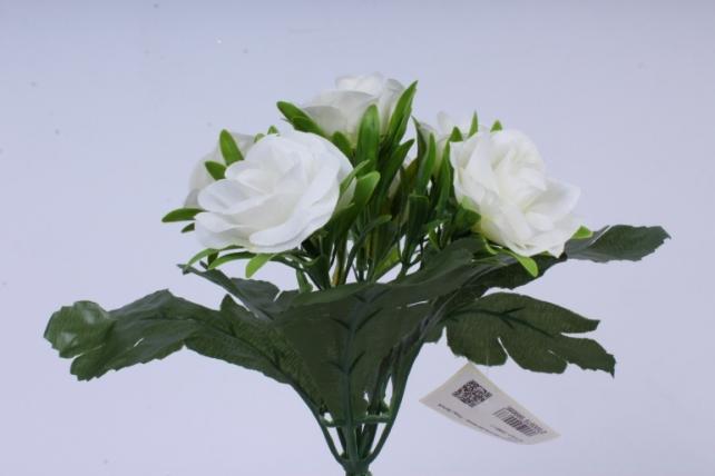 искусственное растение - розы белые 25 см